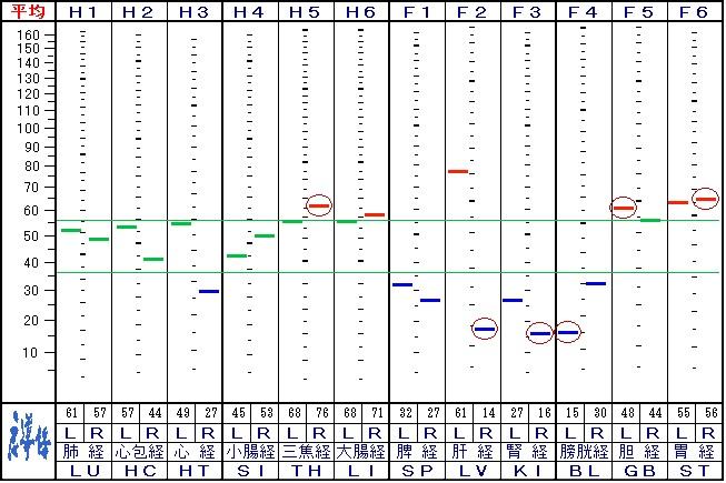 来院2回目の自律神経データ
